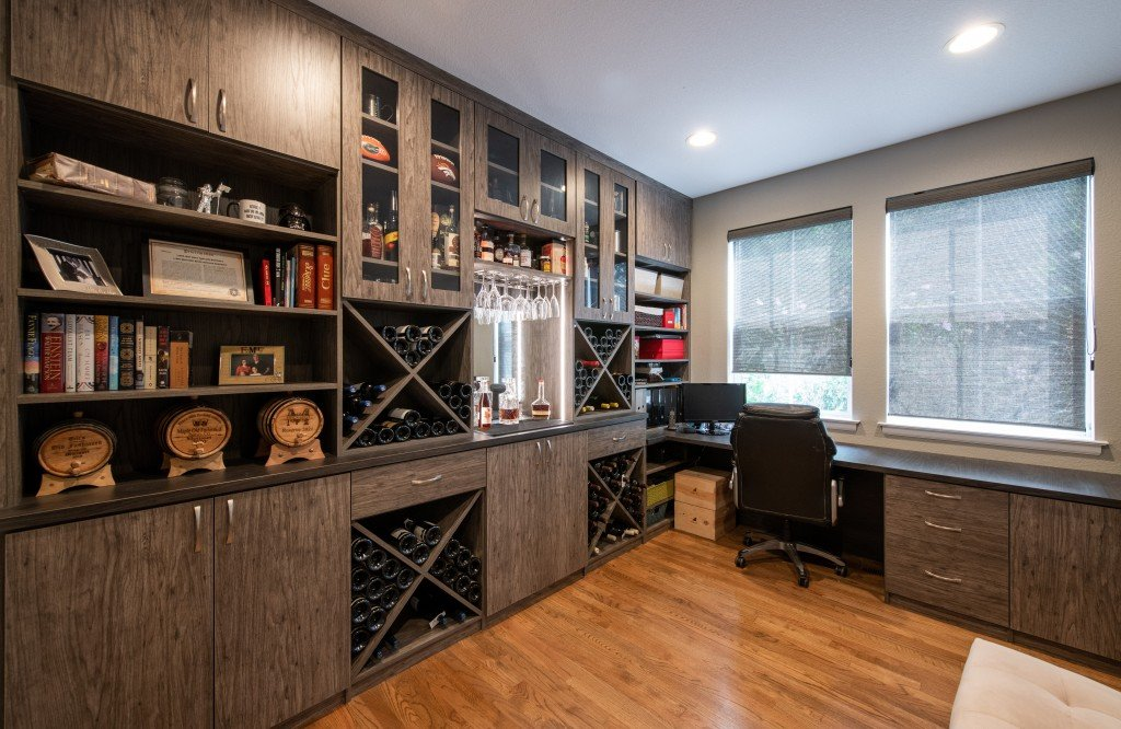 Leslie Klinck 28th Ave Wine Bar Home Office 1