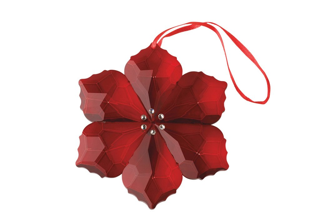 Villeroy & Boch Crystal Poinsettia Ornament