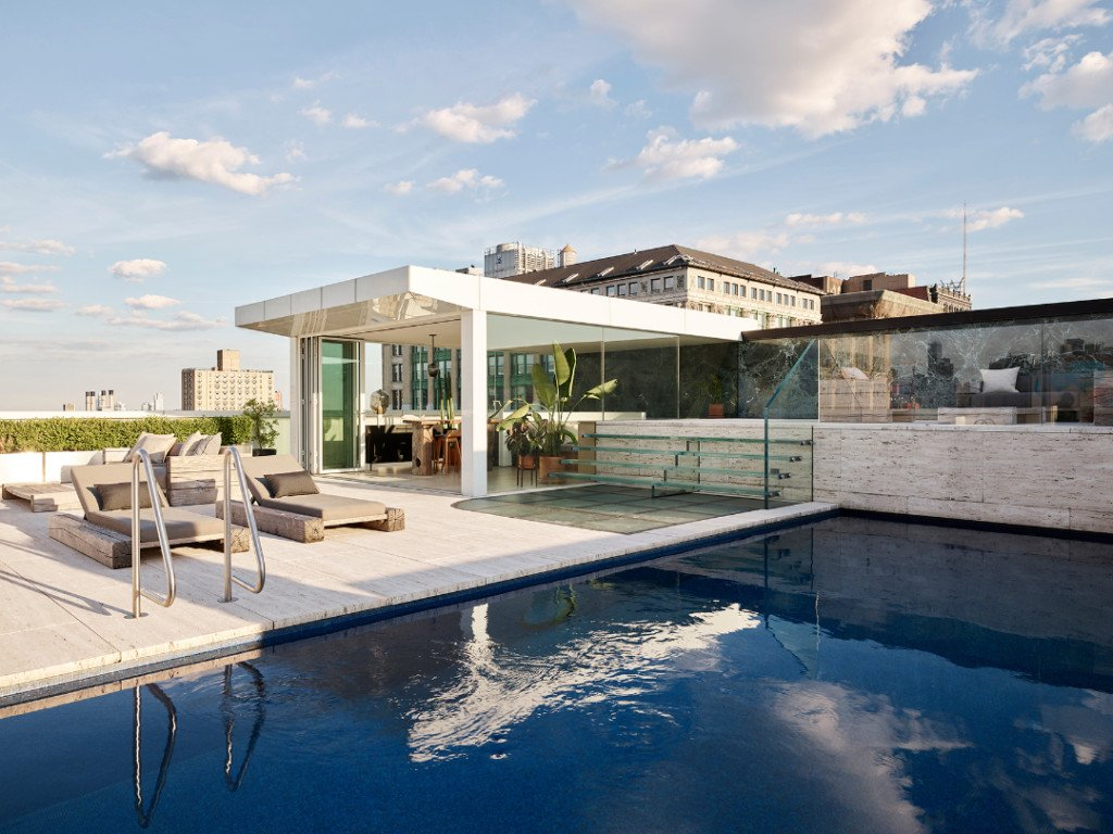 Park Avenue Duplex Penthouse Lists for $30M Expansive Pool