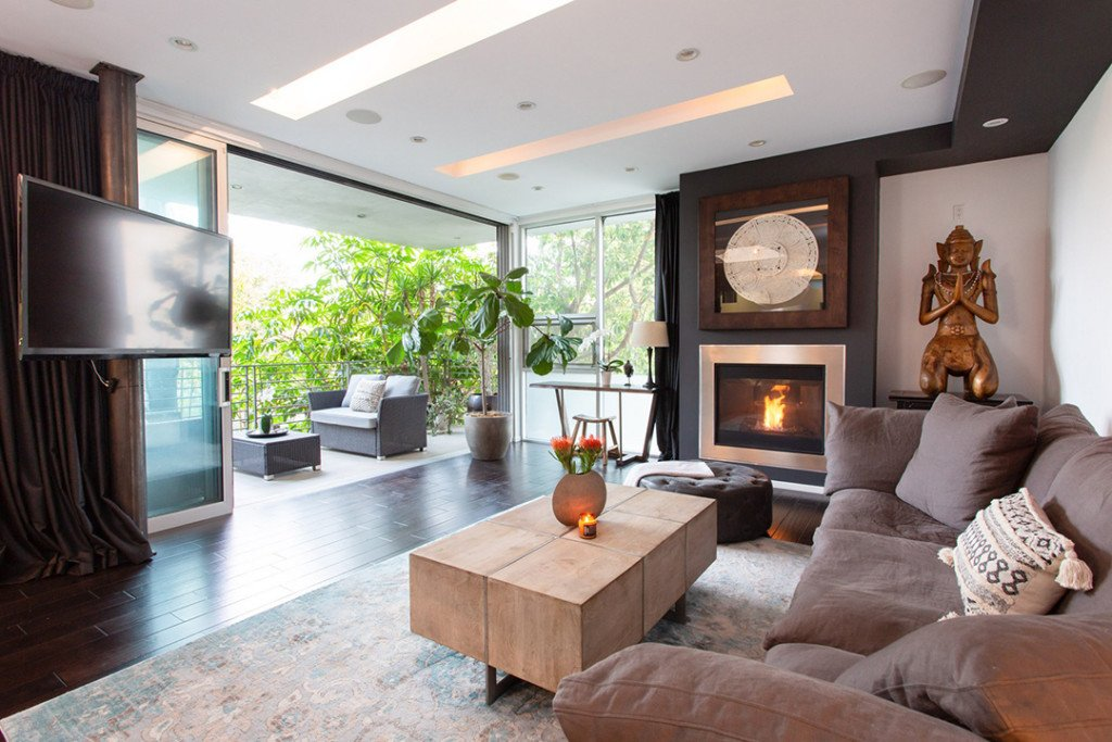 Stunning Living Room from Actress Awkwafina Scoops Up a Tranquil West Hollywood Retreat