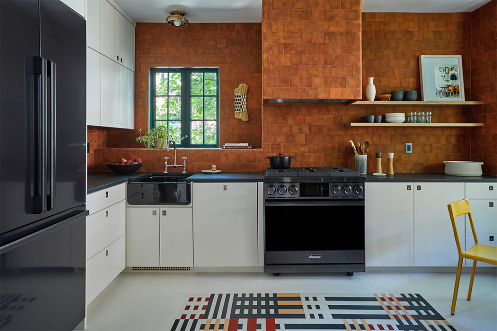 Kitchen in 1820s Brooklyn Showhouse
