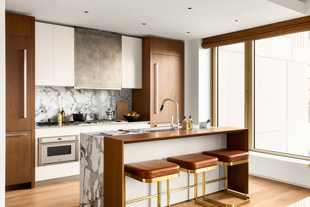 Sleek Marble Kitchen Designed by Lenny Kravitz