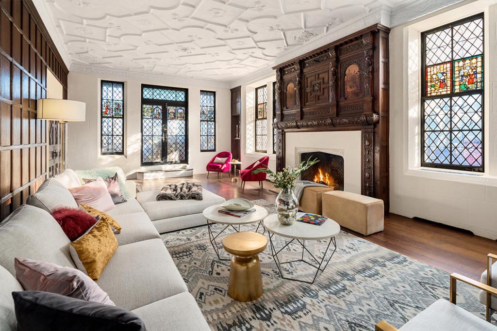 Giorgio Armani NYC penthouse living area