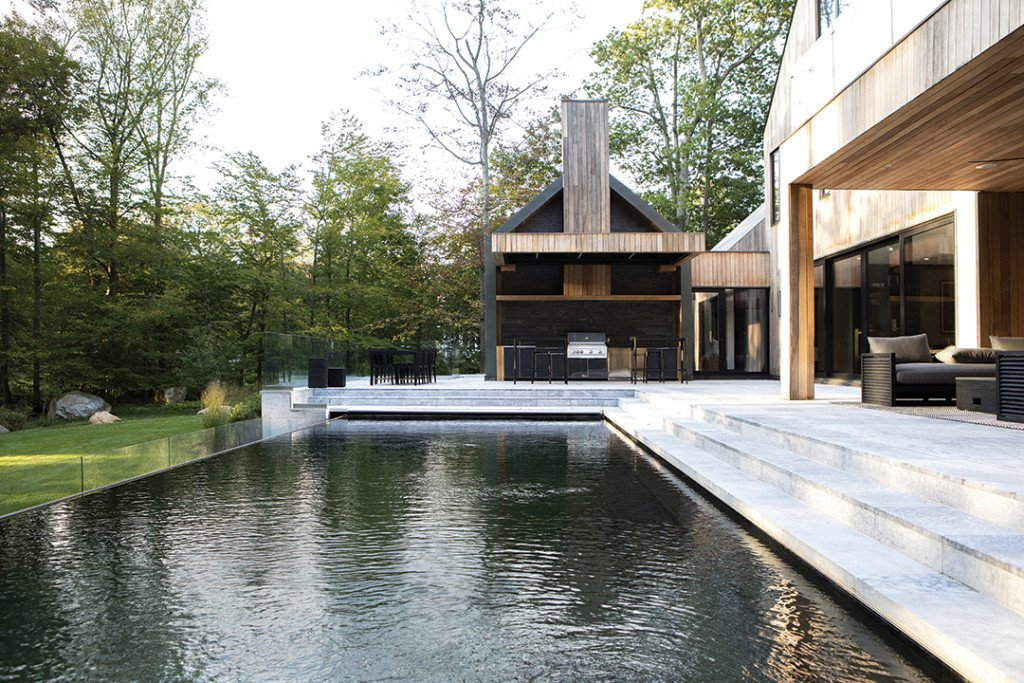 Modern Greenwich Home Pool