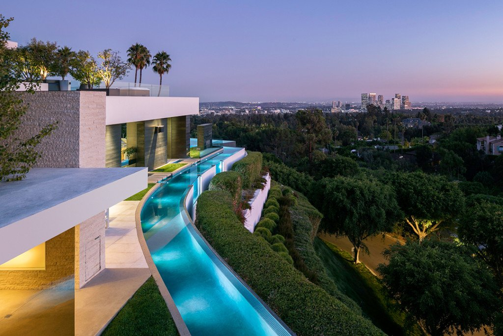 Sleek Pool at a Beverly Hills Mansion