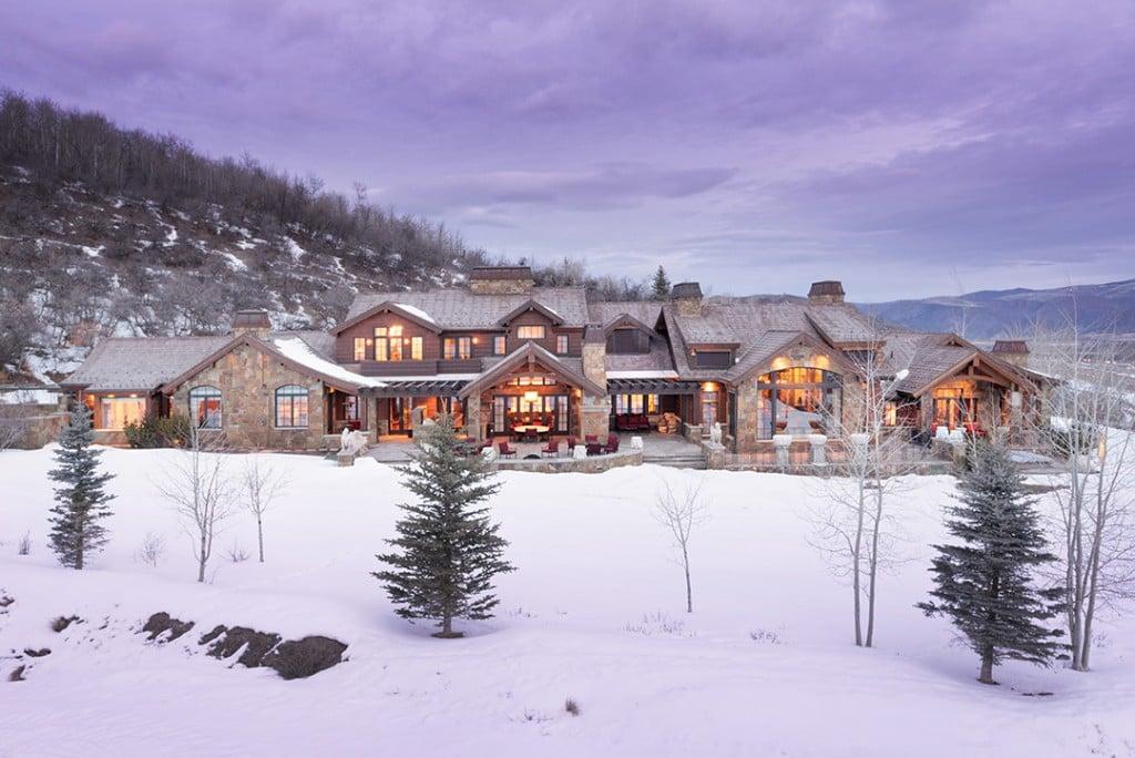 Exterior of a Aspen Winter Home