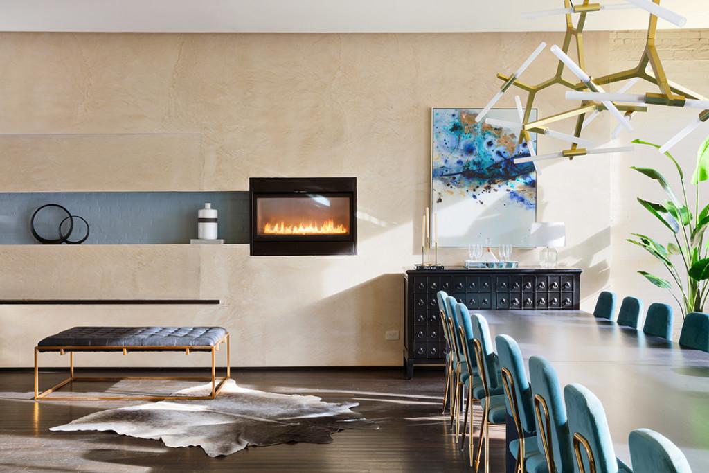 Soho Triplex Penthouse dining room details