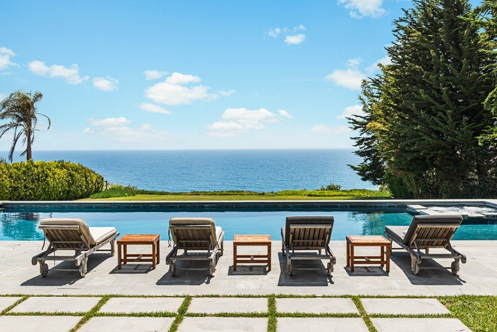 Pool at Shaun White's Malibu Home