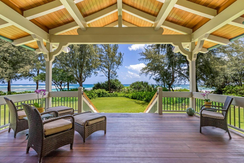 Porch at Craig T Nelson's Kauai home