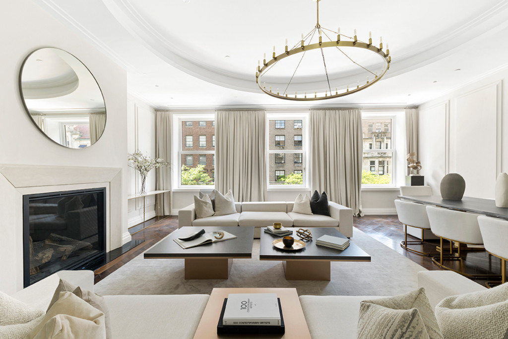 Living Room in Gloria Vanderbilt's Former Upper East Side Home