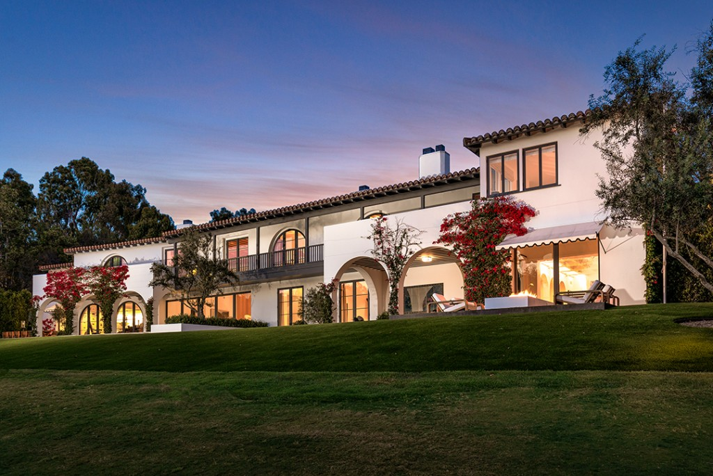 Lori Loughlin's Bel Air home white exterior