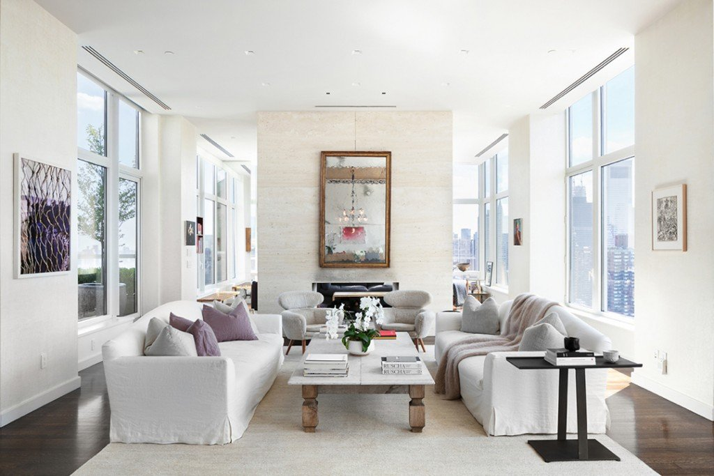 Jennifer Lawrence Upper East Side Penthouse Living Room