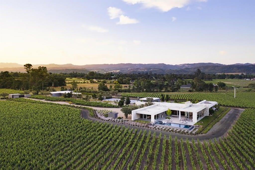 Napa Valley Modern Vineyard Estate Exterior