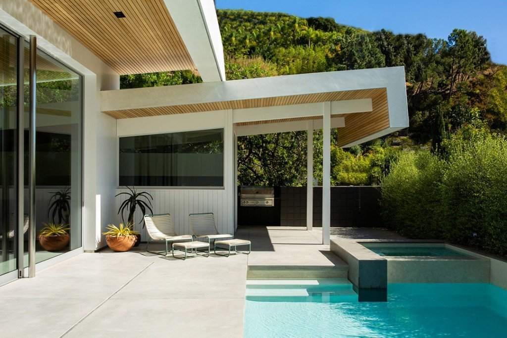 Actor Jason Stathams Suave Midcentury Modern Hits The Market In La Pool B