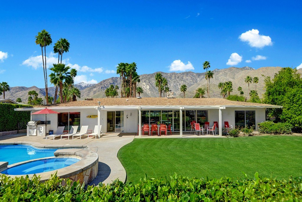 Walt Disneys Technicolor Dream House For Sale In Palm Springs Exterior Back