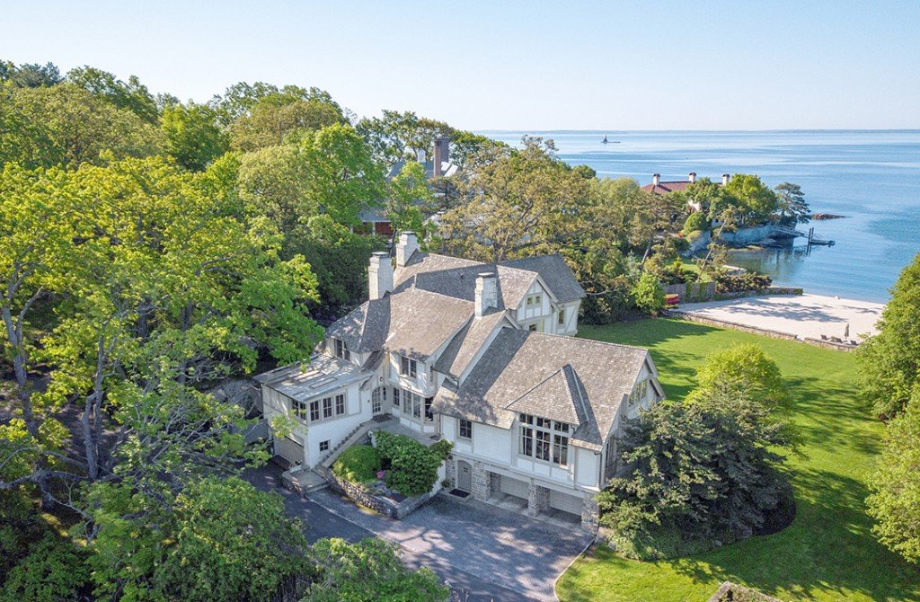 Circa 1902 Darien Tudor With Its Own Beach Wants 8m