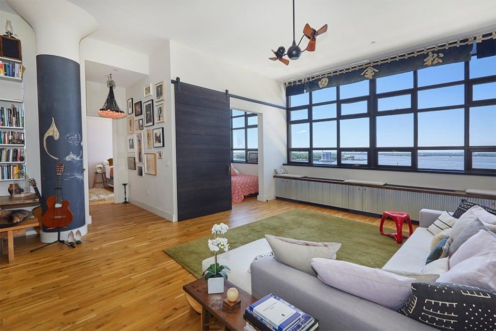 Shalom Harlow Brooklyn Apartment Living Room