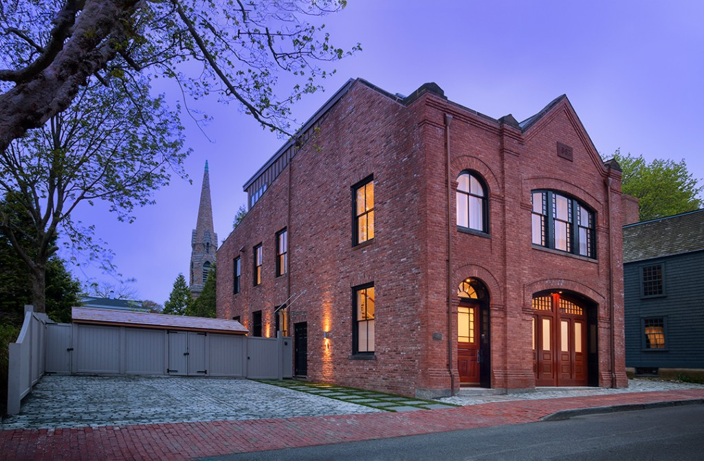 Historic Fire Station Converted Into A Modern Home Lists In Newport Rhode Island Exterior