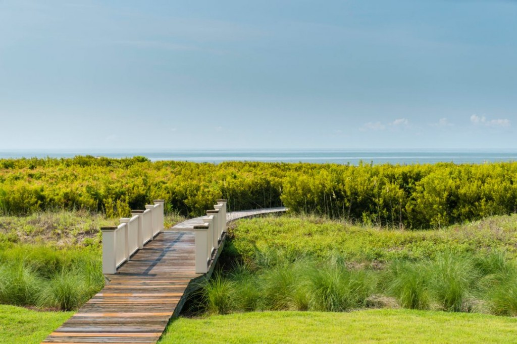 Kiawah Island Oceanfront Shingle Home Boardwalk Beach Access