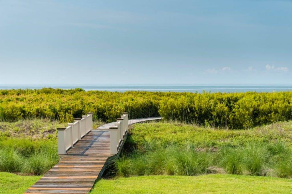 Kiawah Island Oceanfront Shingle Home Boardwalk Beach Access