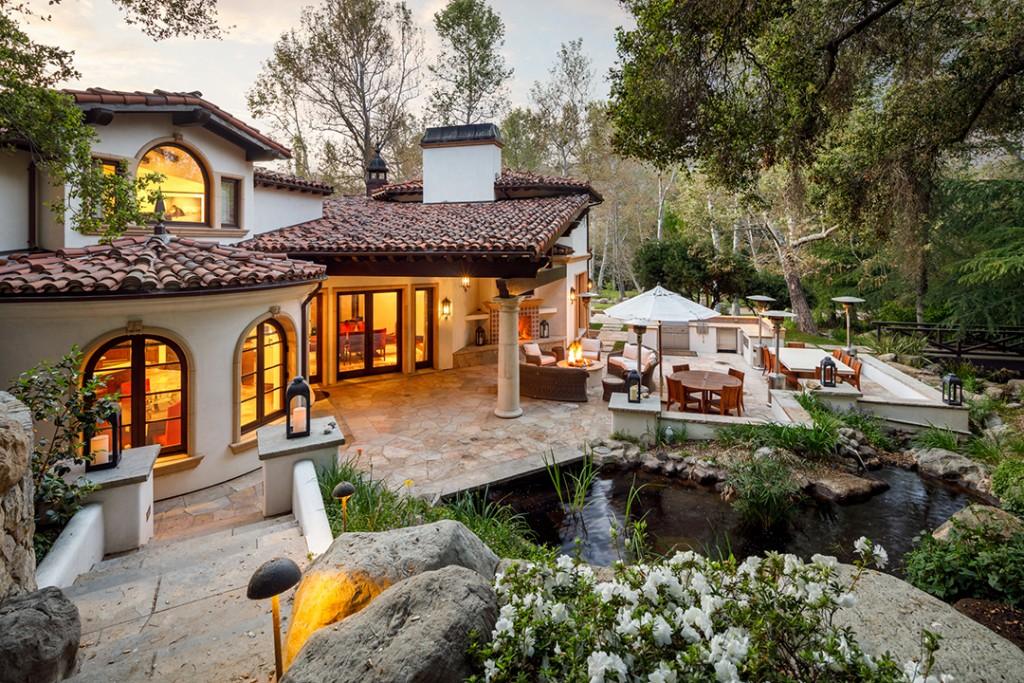 Liam Payne Calabasas Home Pond
