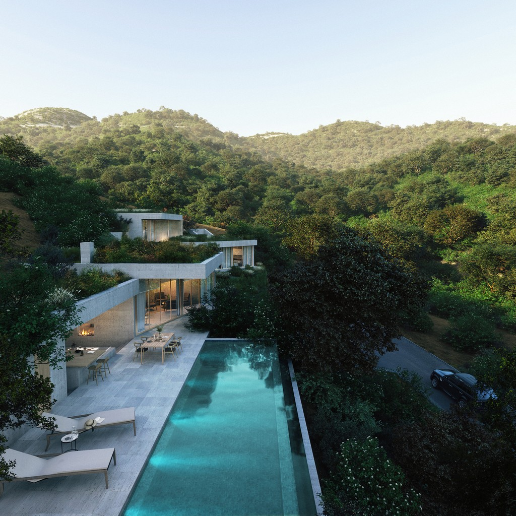 2 2m Modern Oasis Blends Into Nature In The Hills Of Marbella Spain Aerial