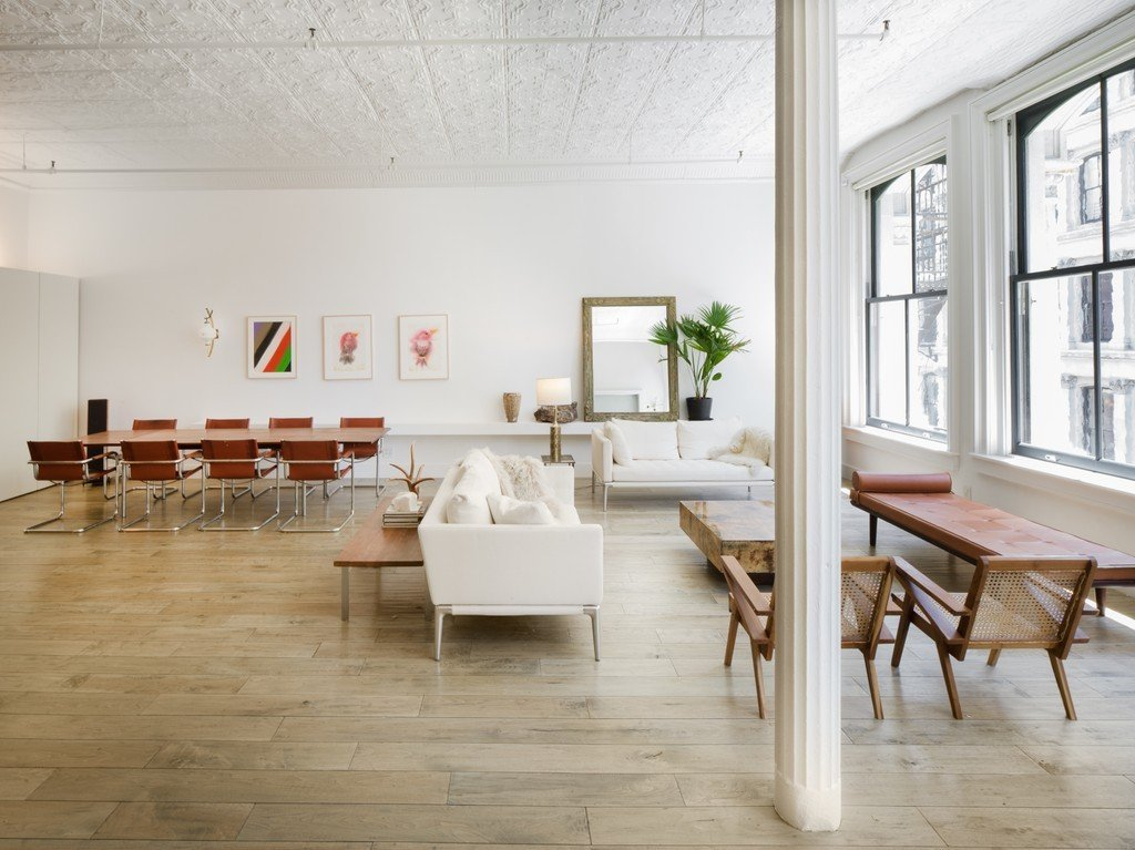 Trendy Full Floor Loft In A 19th Century Tribeca Building Lists For 5 45m Living Room B