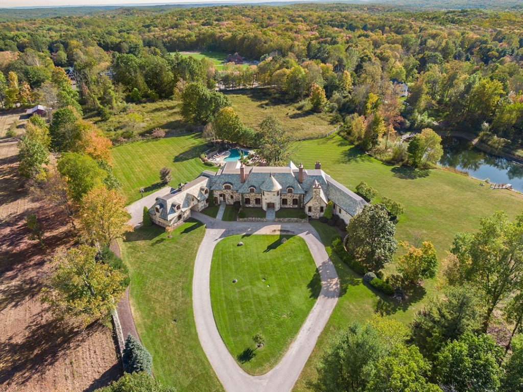 Storybook Redding Ct Manor On 20 Acres Seeks 4 5m Aerial