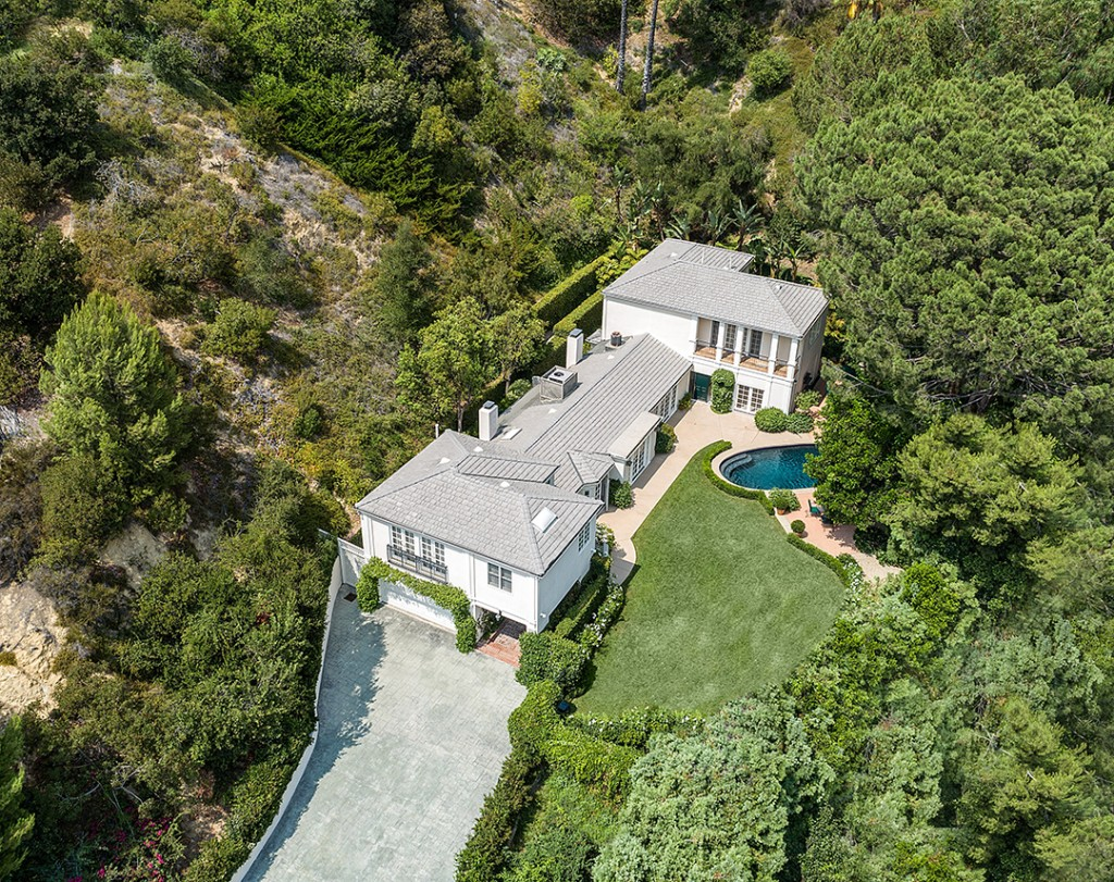 Katy Perry Lists Charming And Ultra Private Beverly Hills Home Aerial