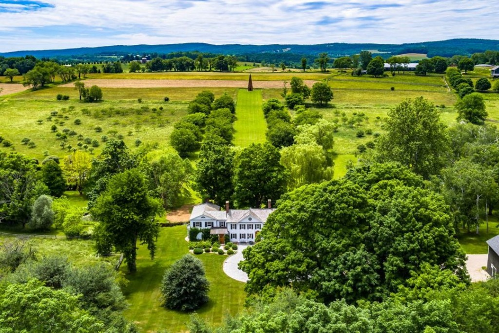 Sharon Ny English Country Estate Aerial