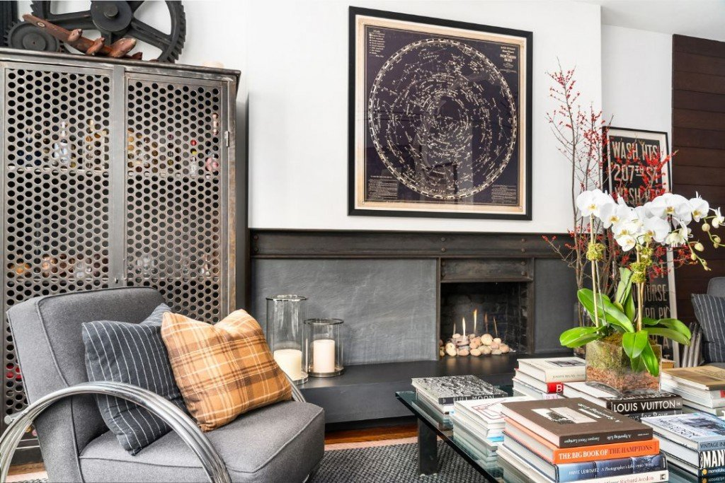 Upper West Side Coop Ralph Lauren Fireplace