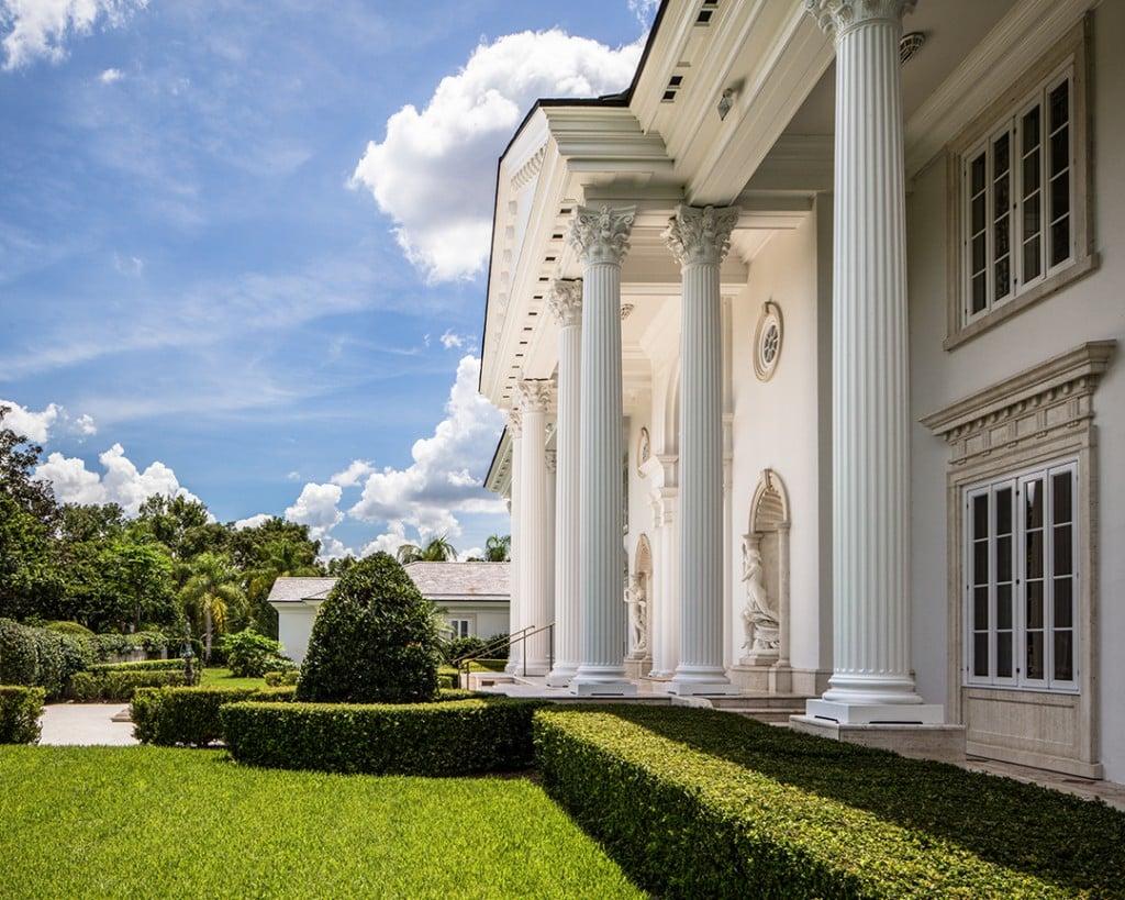 British Billionaire Lists Lakefront Florida Mansion With Hidden Treasures Columns