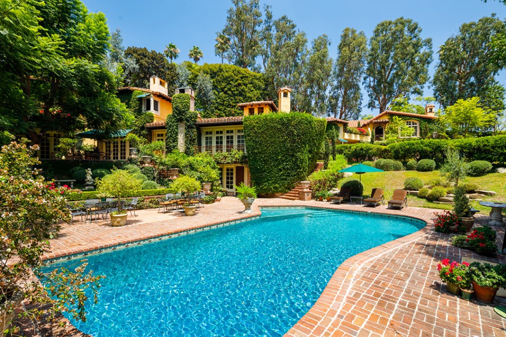 Priscilla Presley Has Left The Building And Just Sold Her Beverly Hills Home Pool