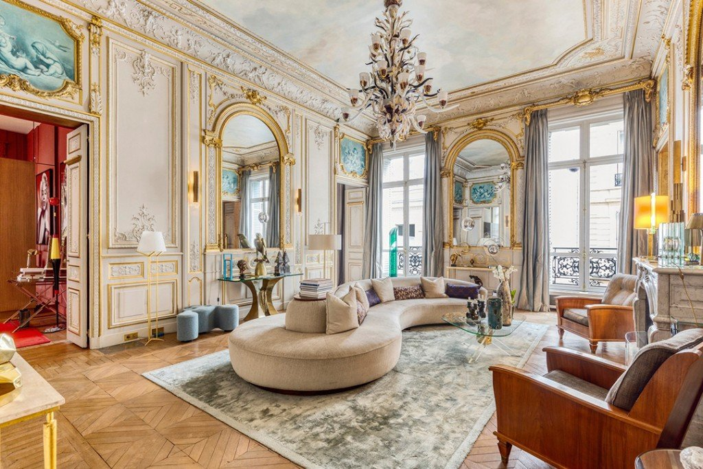 This Romantic Paris Apartment Listed For 7 6m Is Swoon Worthy Grand Room