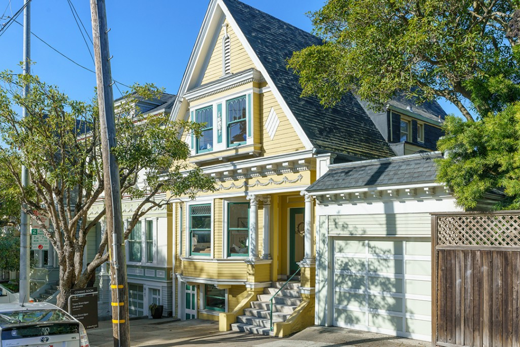 Vibrant Victorian Home Near Haight Ashbury Wants 2m Exterior Yellow