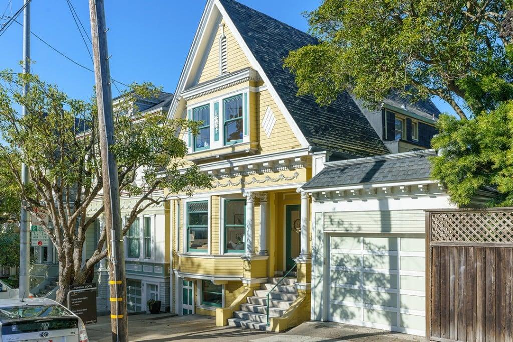 Vibrant Victorian Home Near Haight Ashbury Wants 2m Exterior Yellow