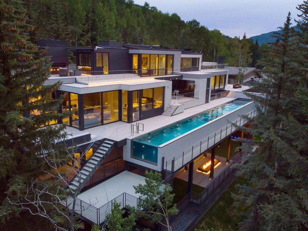Wander Through A 45m Vail Modern With Tons Of Va Va Voom Aerial