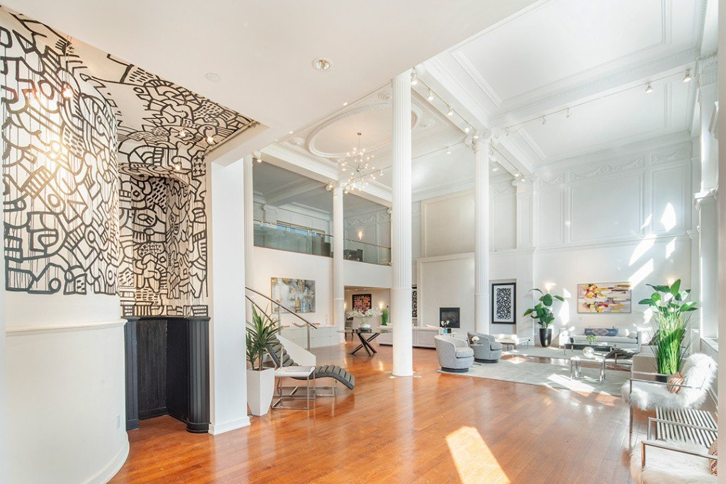 Keith Haring Mural In Tribeca Loft