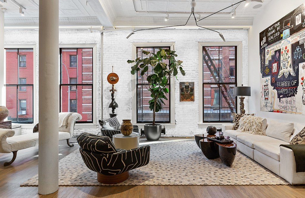 Actress Sela Ward Lists Her Swanky Soho Loft For 5 8m Living Room