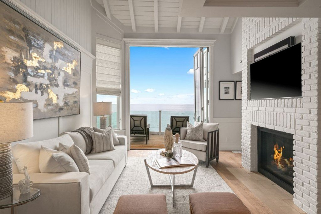 Judy Garland Former Malibu Beachfront Living Room Indoor Outdoor