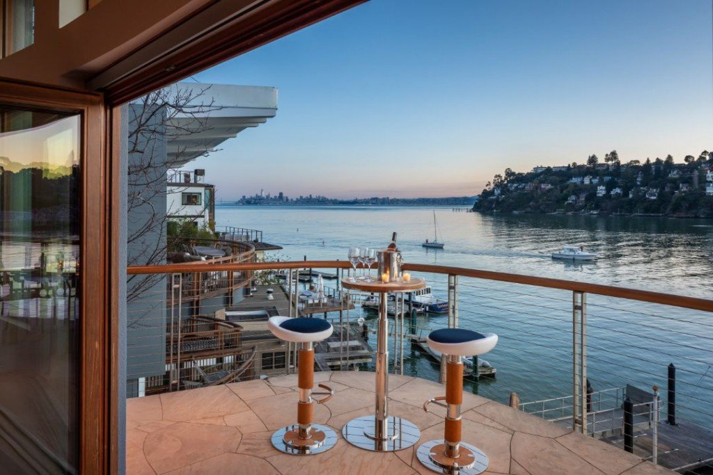 Belvedere San Francisco Bay Waterfront Home Entertaining Area