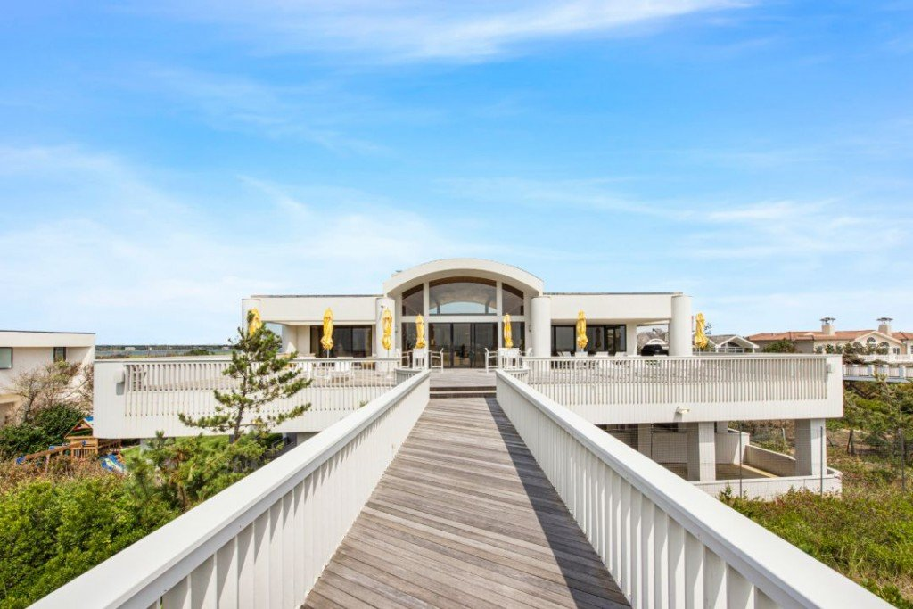 Quogue Village Hamptons Oceanfront Contemporary Beach Walkway