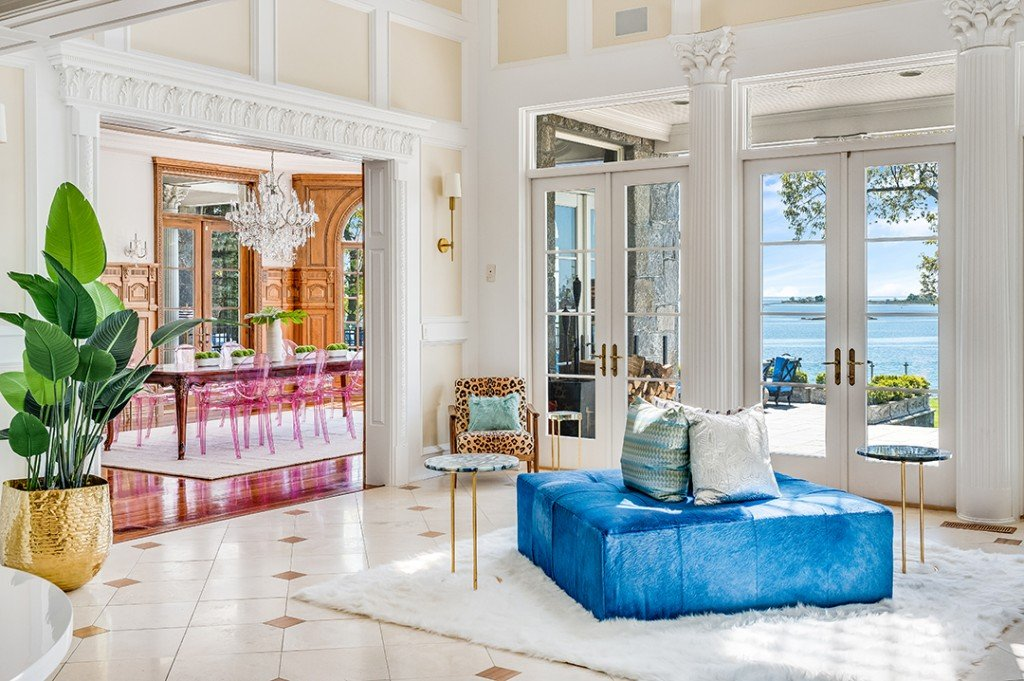 Extraordinary Waterfront Home With Playful Style Lists In Norwalk Ct Foyer E