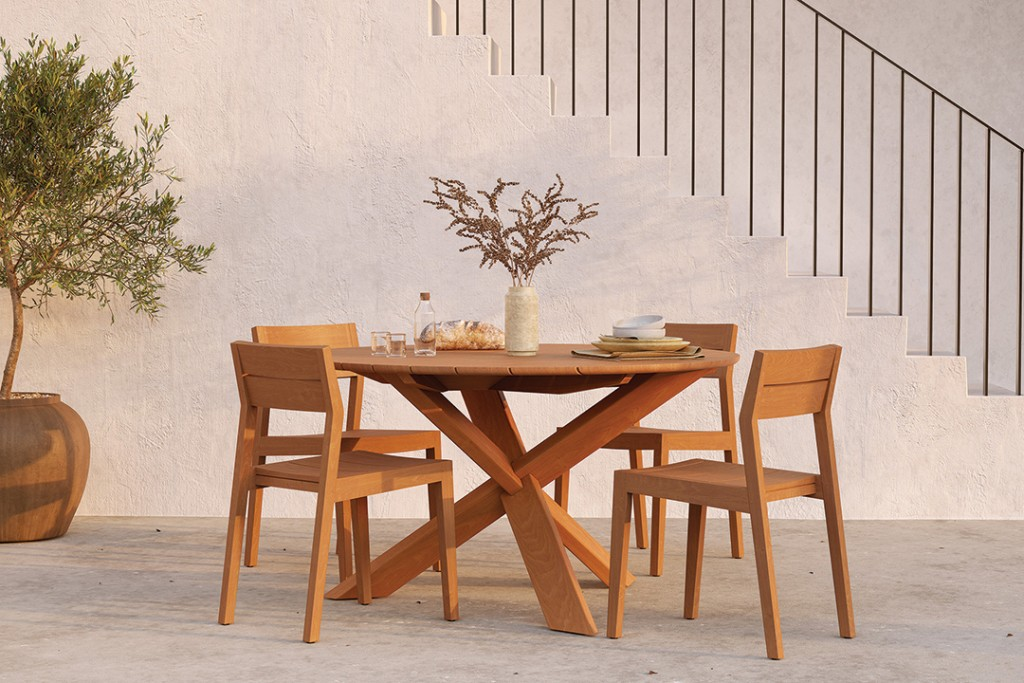 Teak Outdoor Wooden Table And Chairs