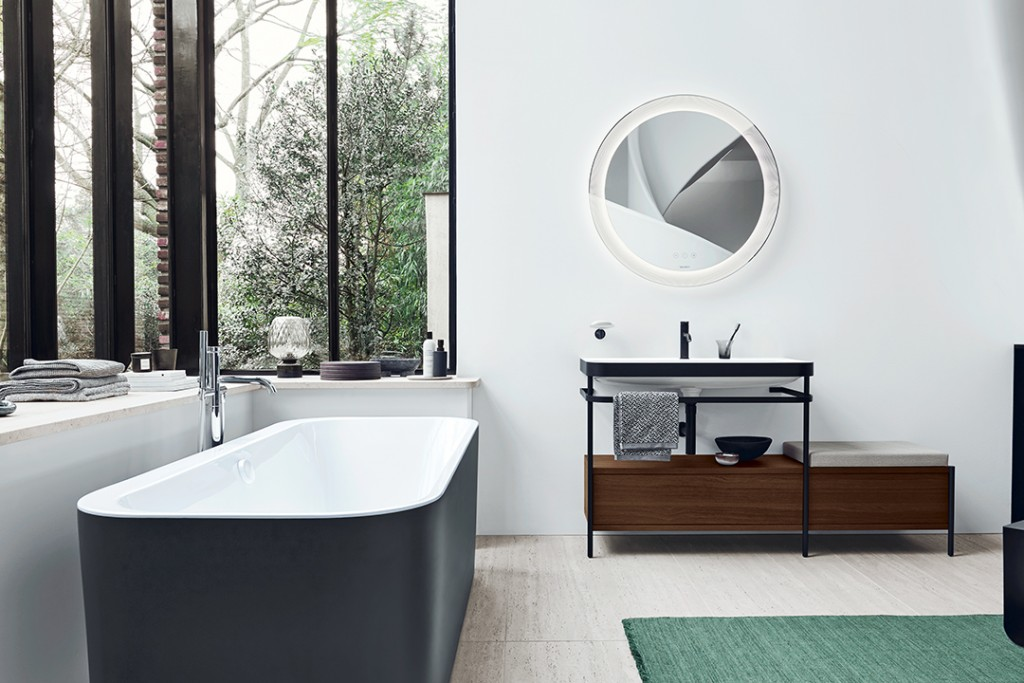 Duravit black and white bathroom design