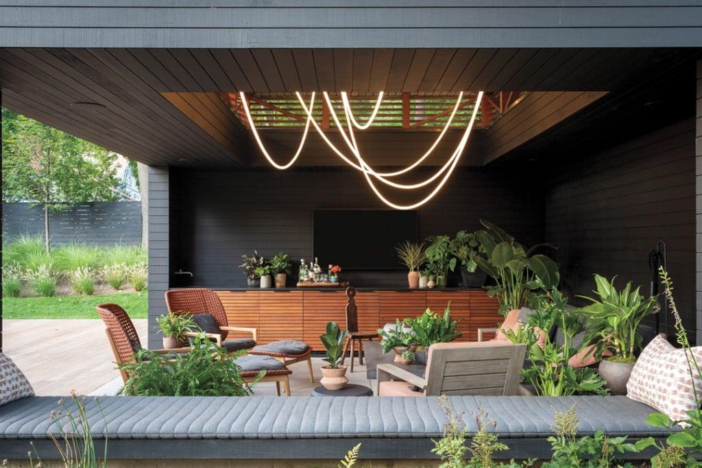 Interior Designer Amy Aidinis Hirsch Builds A Modern Pool House Dream