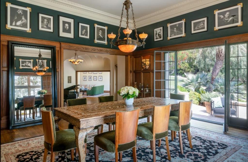 Dodgers Owner Laughlinpark Los Feliz Estate Dining Room