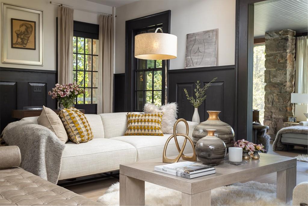 Darien Home Gets A Modern Yet Rustic Refresh From Jody Deluca Designs Living Room