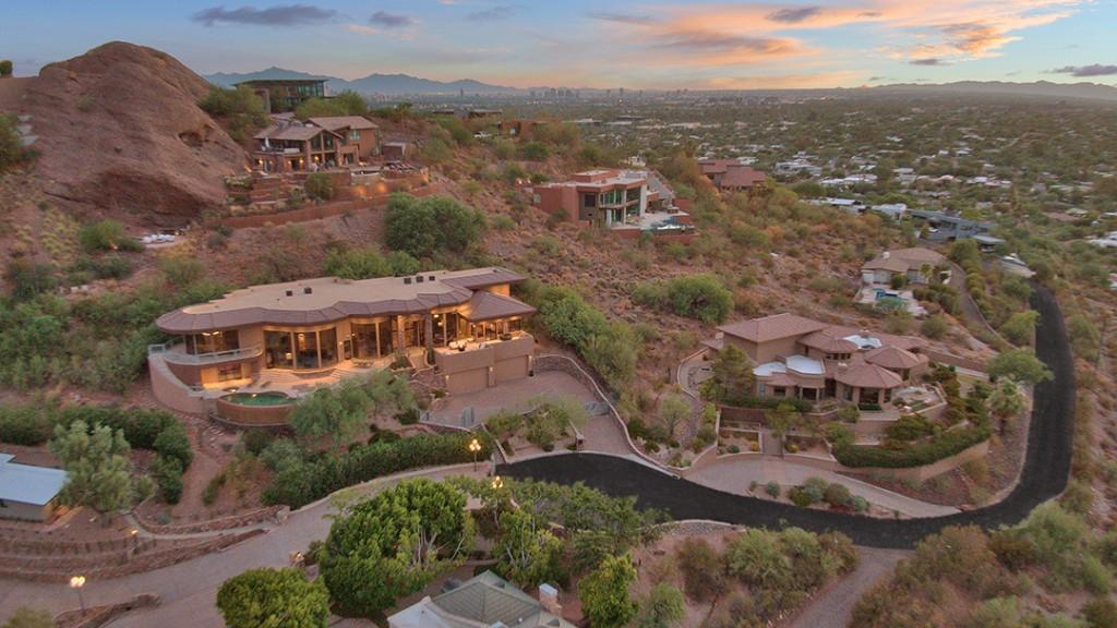 Alicia Keys And Swizz Beatz Say Goodbye To Their Hilltop Arizona Home Aerial View