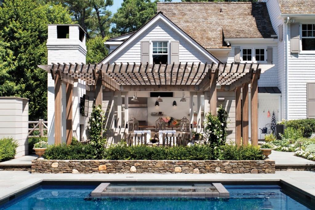 Tour A Modern Outdoor Pool House With Scandinavian Flair